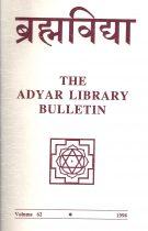 The Adyar Library Bulletin Vol. 62 (1998) – Brahma Vidya